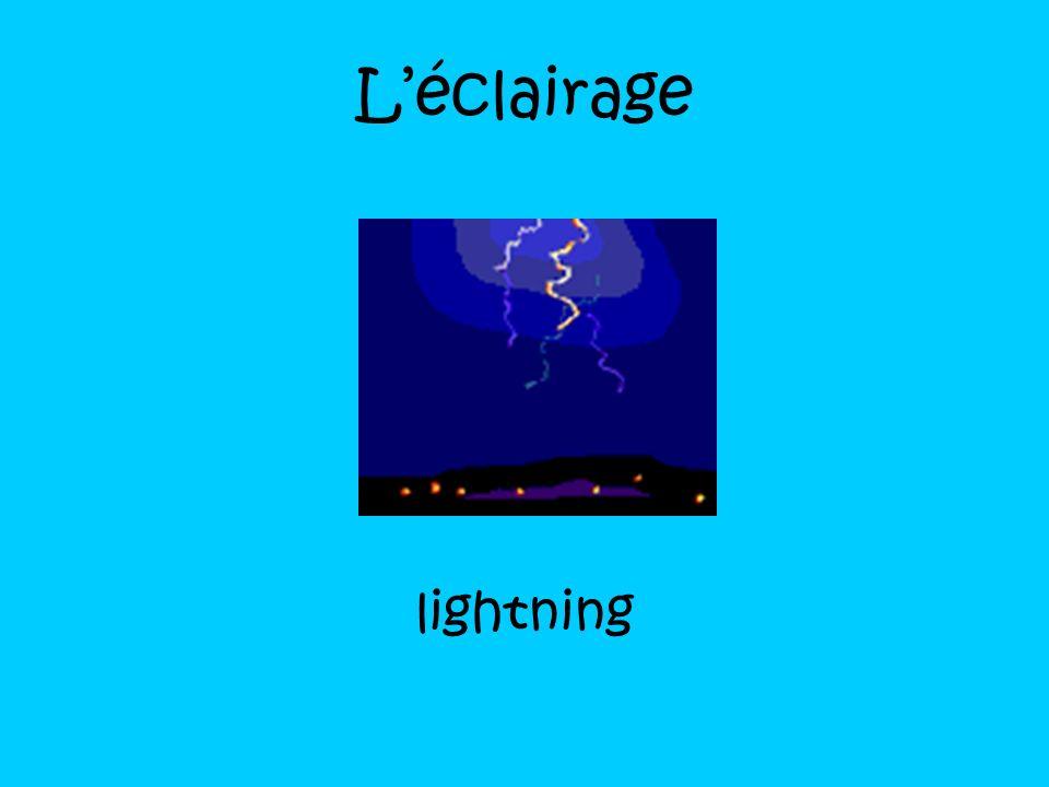 L'éclairage lightning