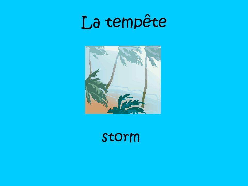 La tempête storm
