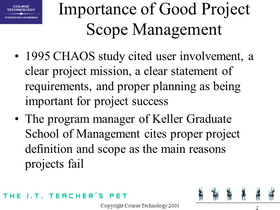 Importance of Good Project Scope Management