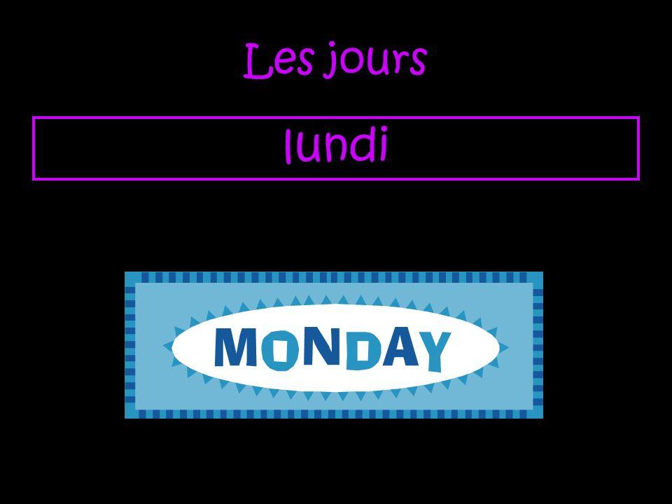 Les jours lundi