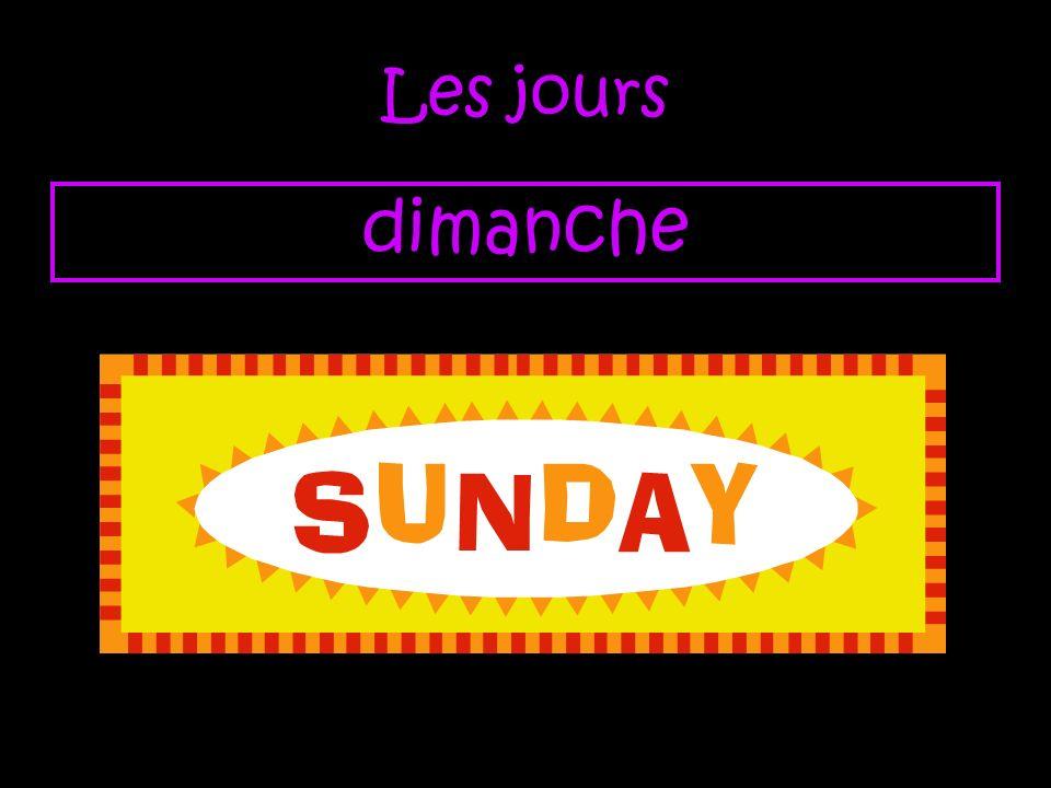 Les jours dimanche