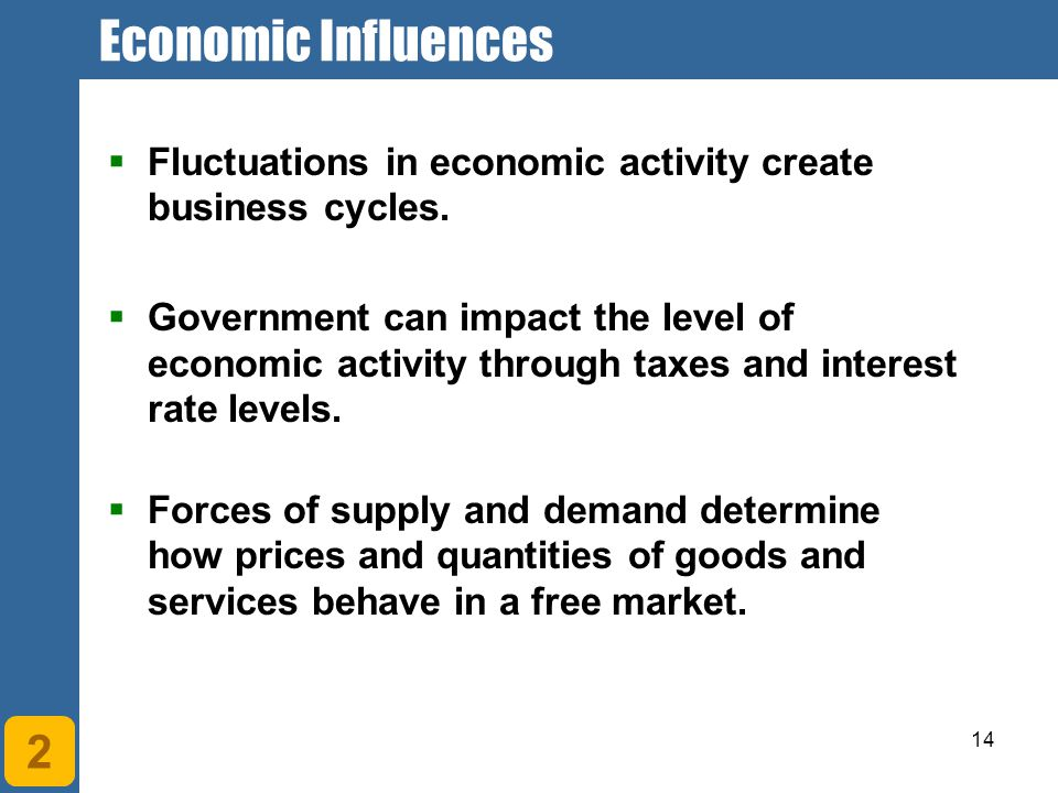 Economic Influences Chapter 1. Understanding Economic Systems and Business. Fluctuations in economic activity create business cycles.