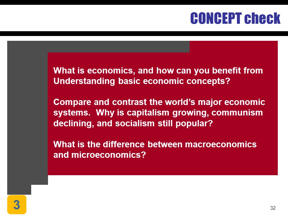 CONCEPT check 3 What is economics, and how can you benefit from