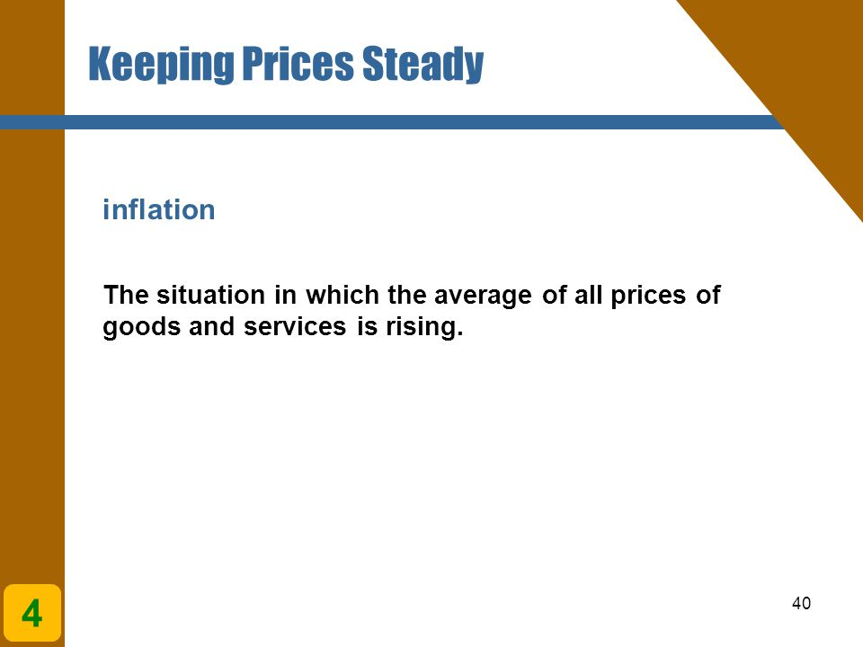 Keeping Prices Steady 4 inflation