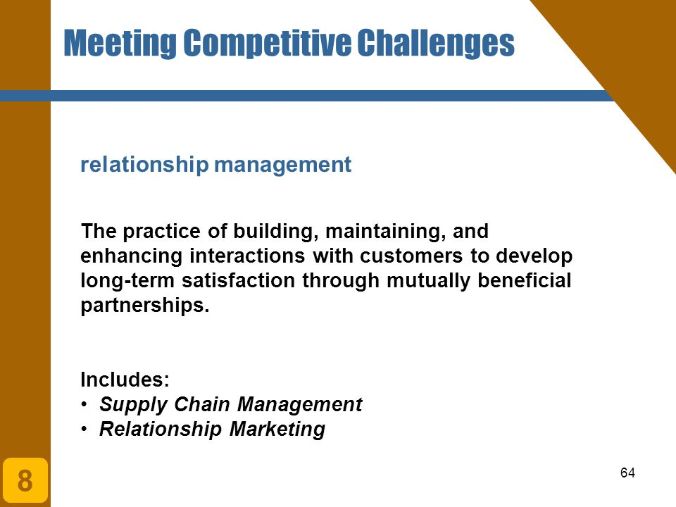Meeting Competitive Challenges