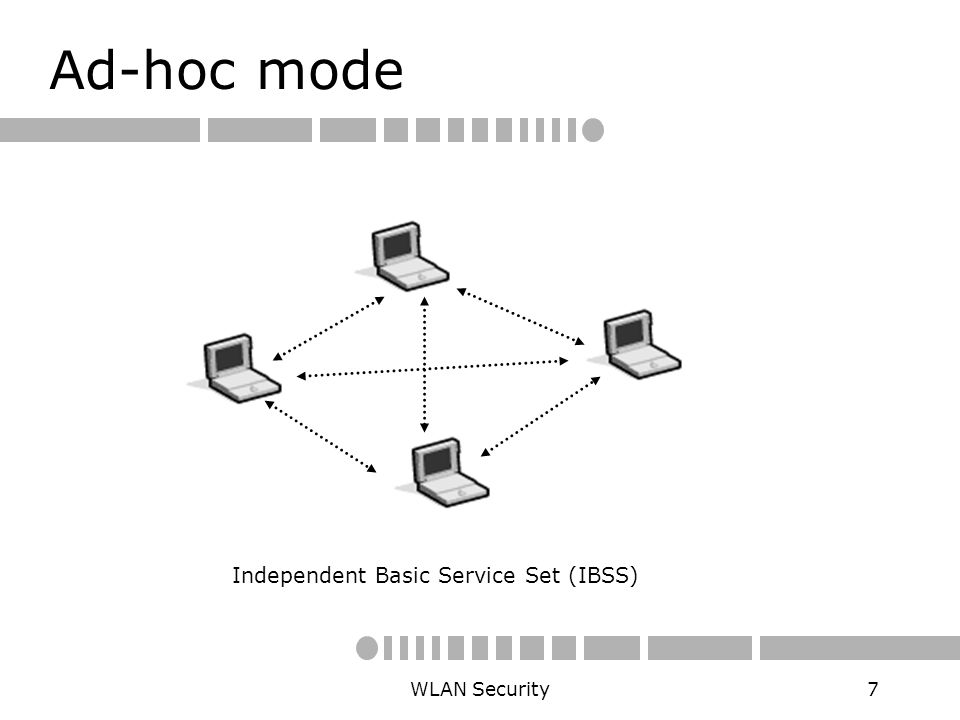 independent basis service set or ibss essay Extended service set definition - an extended service set (ess) is one or more interconnected basic service sets (bsss) and their associated lans each.