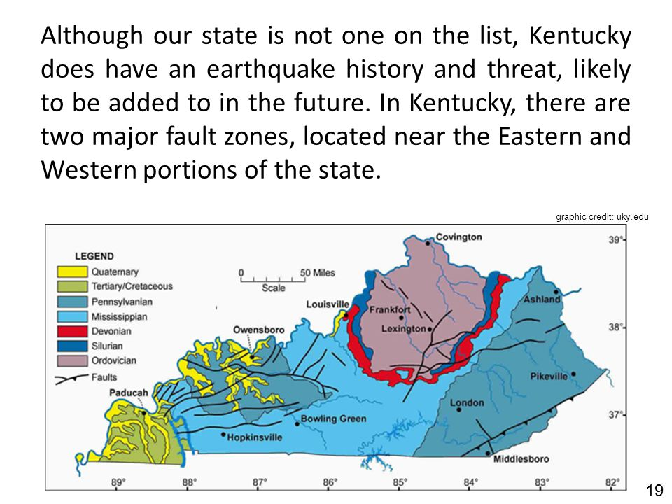Today's Earthquakes in Kentucky, United States