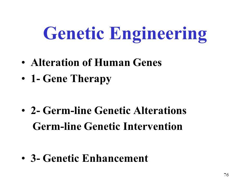Human genetic engineering thesis statement