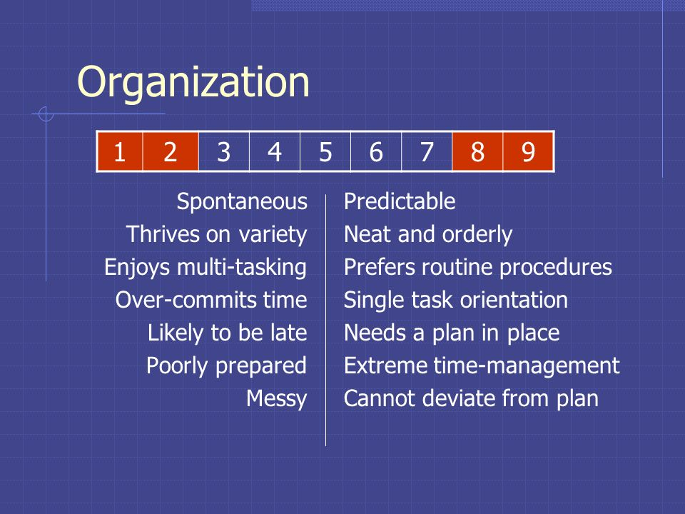 Organization Spontaneous Thrives on variety