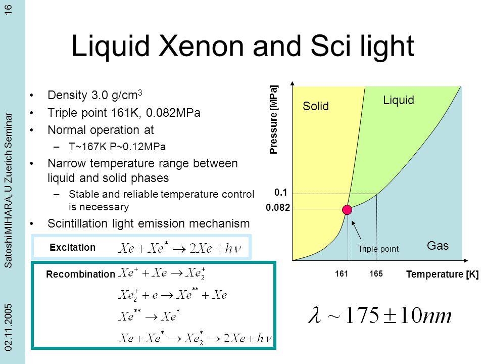 Liquid Xenon and Sci light