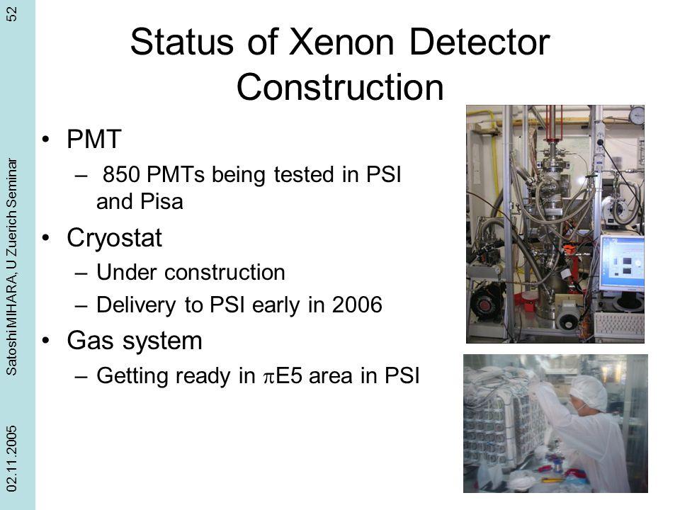 Status of Xenon Detector Construction