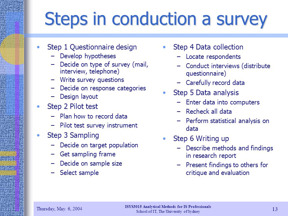 how to write a survey report introduction step by step