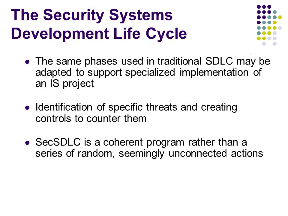traditional system development life cycle