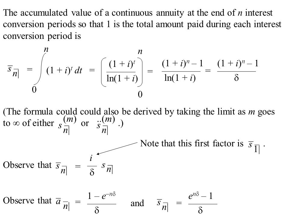 annuity payment formula