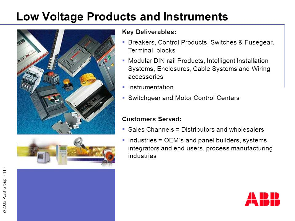 Introducing ABB Welcome to this general overview of ABB ...