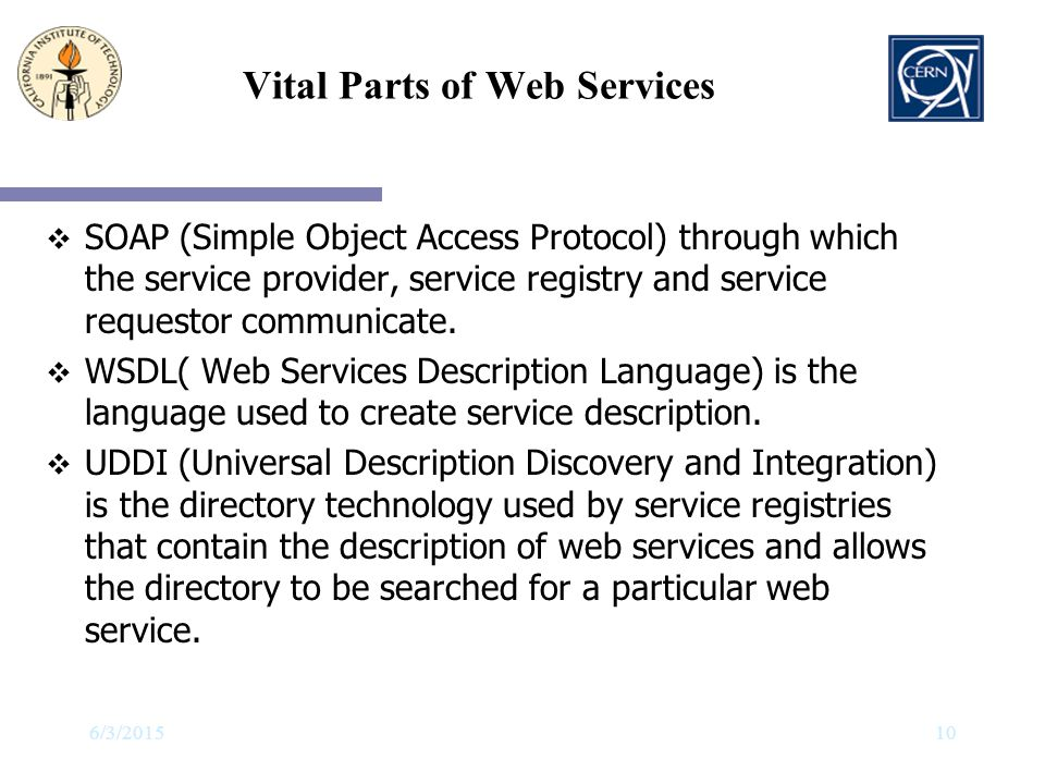 Vital Parts of Web Services
