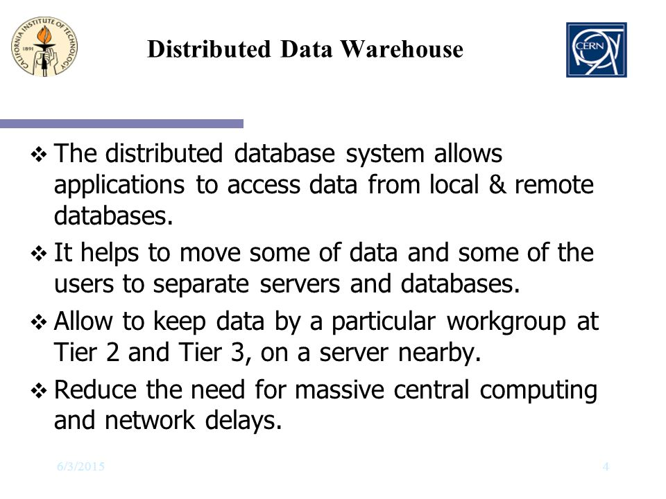Distributed Data Warehouse