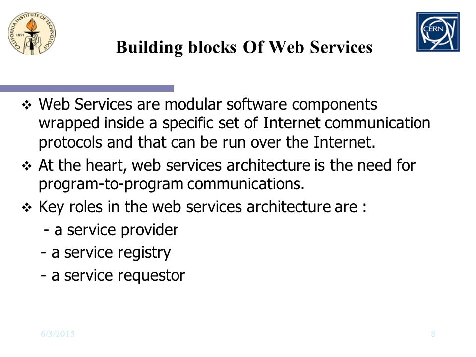Building blocks Of Web Services