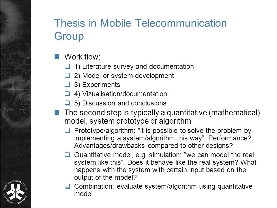 thesis on telecommunications Prospective students searching for top 10 us schools for phd telecommunications found the articles, information, and resources on this page helpful.