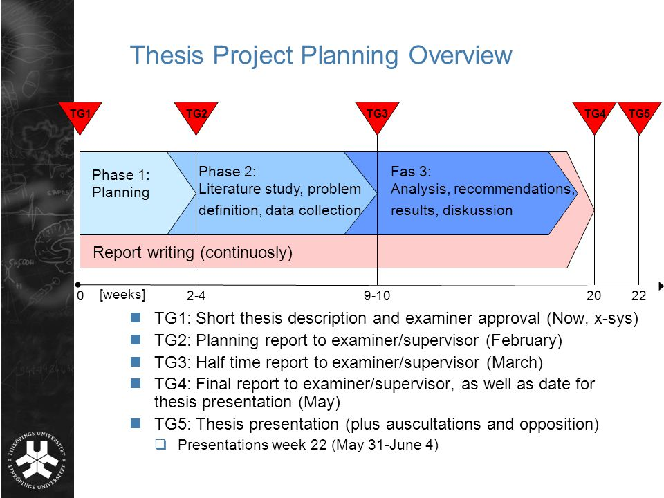 project description master thesis presentation