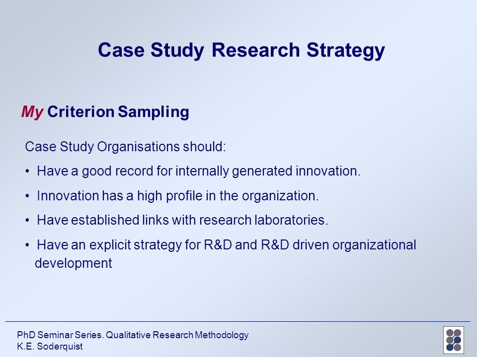 The Case Study as a Serious Research Strategy - Robert K ...