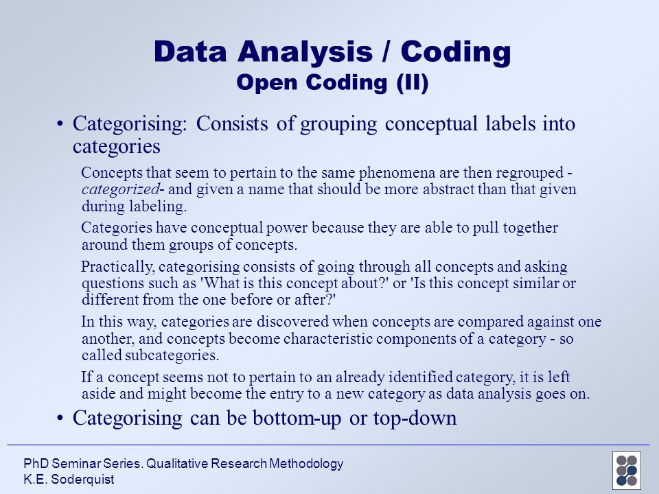 coding in research methodology pdf