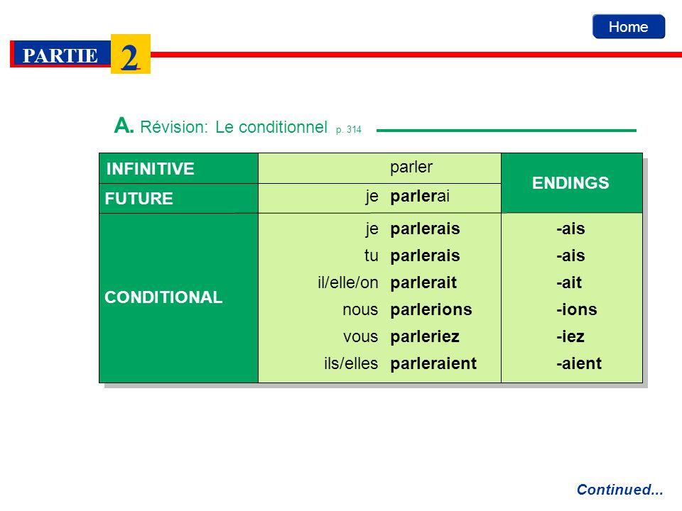 A. Révision: Le conditionnel p. 314