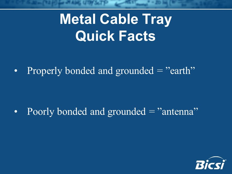 Metal Cable Tray Quick Facts