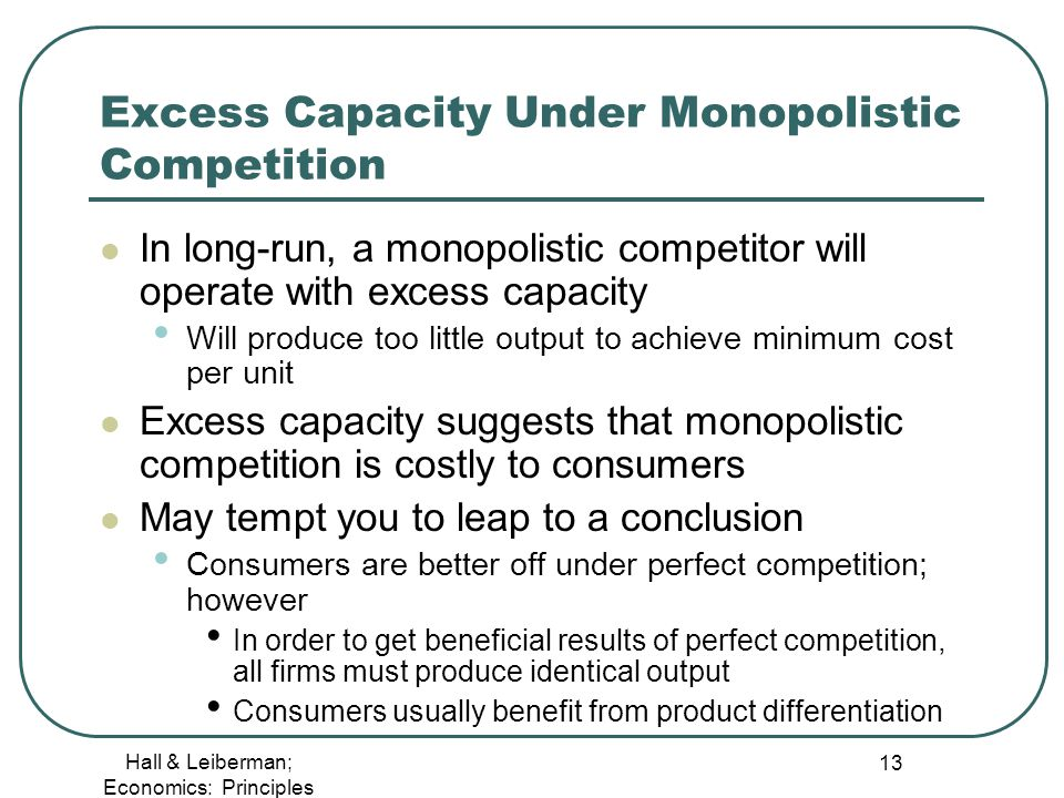 perfect competition imperfect competition essay Lecture 7: market structure – monopoly and imperfect competition i the definition of monopoly under perfect competition, we said that every firm would, in the.