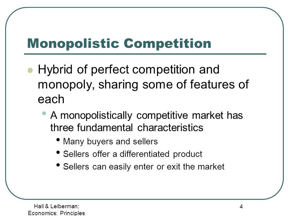 economics perfect competition and monopolistic competition Understand, analyse and evaluate perfect competition and explore the diagrams to show short and long run equilibrium for a profit maximising competitive firm.