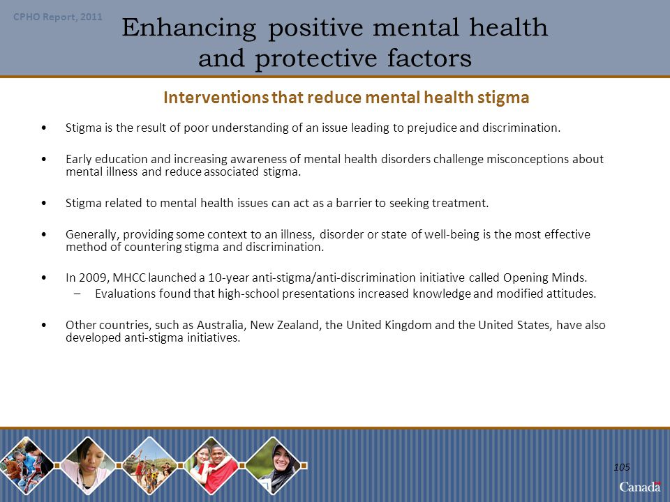 Enhancing positive mental health and protective factors