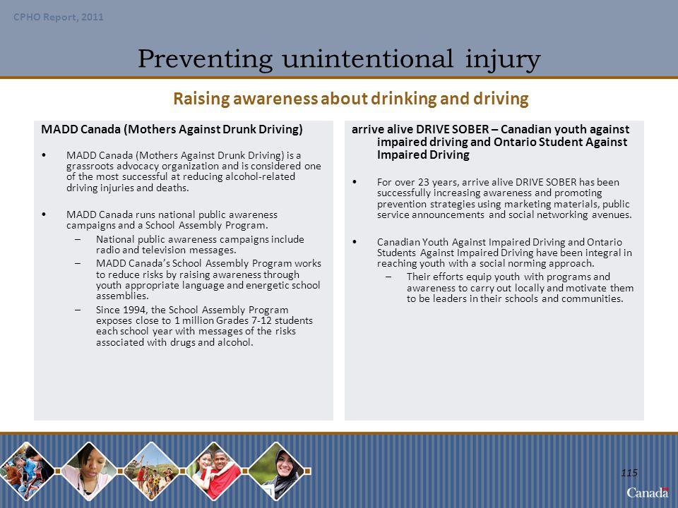 Preventing unintentional injury