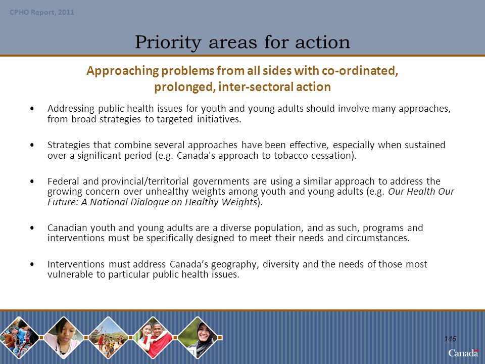 Priority areas for action