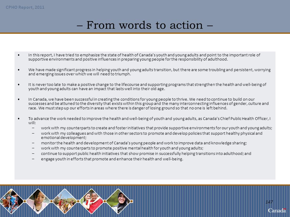 – From words to action –