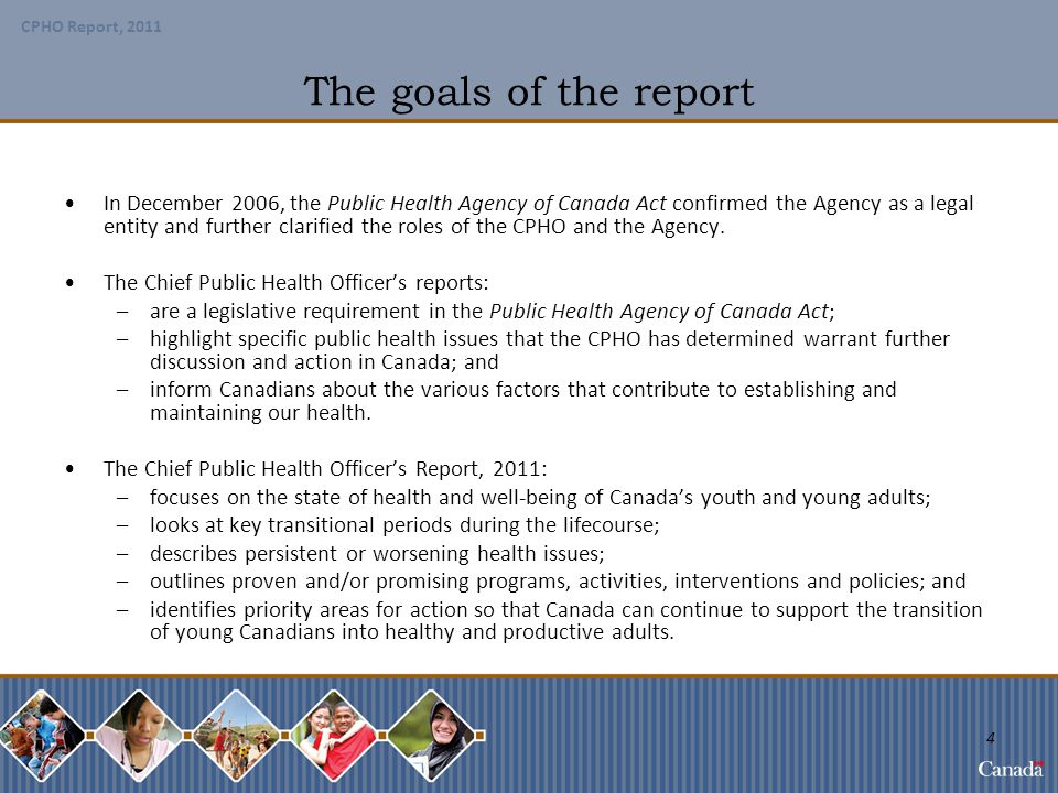 The goals of the report