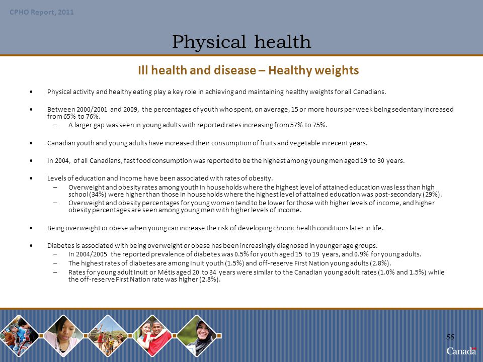 Ill health and disease – Healthy weights