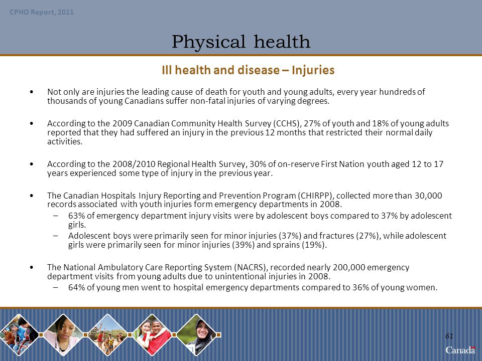 Ill health and disease – Injuries