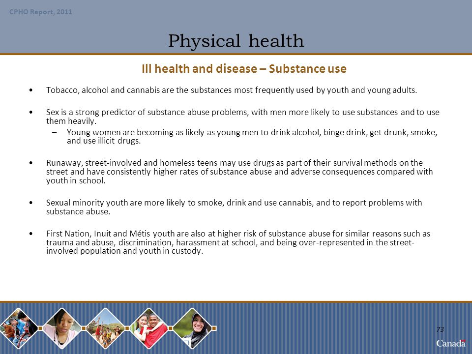 Ill health and disease – Substance use