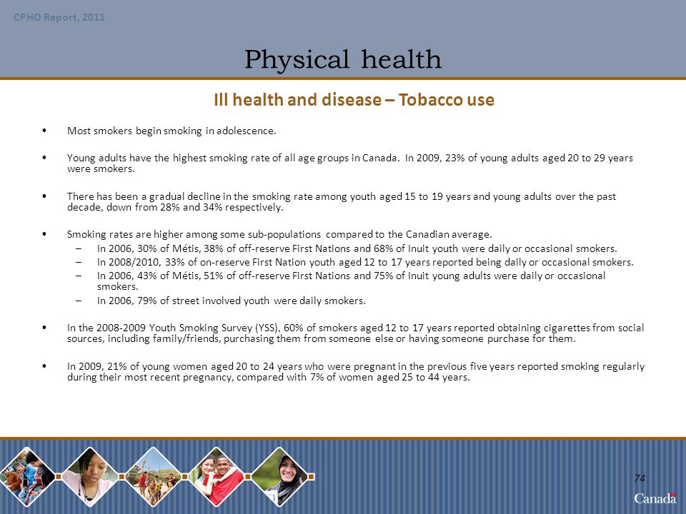 Ill health and disease – Tobacco use
