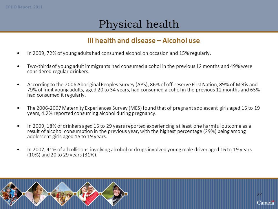 Ill health and disease – Alcohol use
