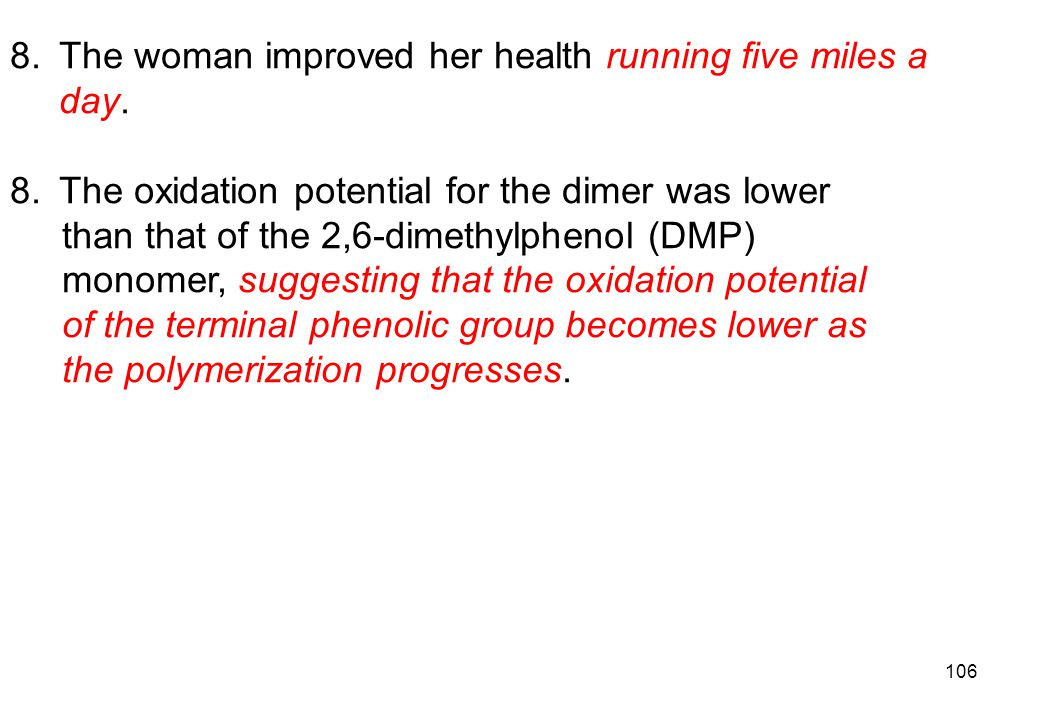 The woman improved her health running five miles a day.