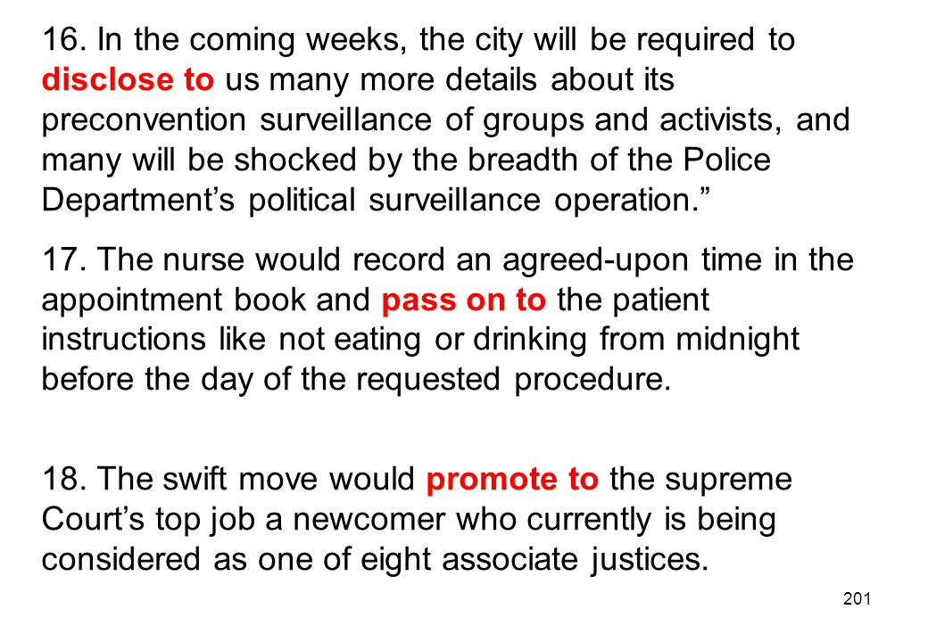 16. In the coming weeks, the city will be required to disclose to us many more details about its preconvention surveillance of groups and activists, and many will be shocked by the breadth of the Police Department's political surveillance operation.