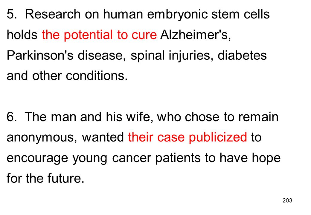 5. Research on human embryonic stem cells