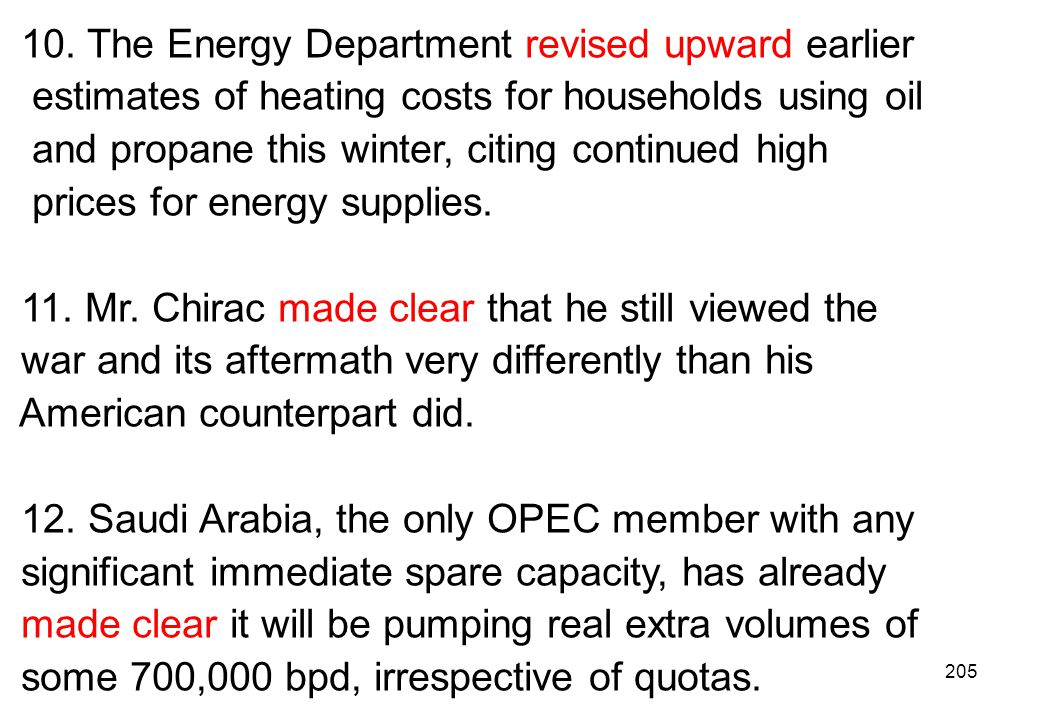10. The Energy Department revised upward earlier
