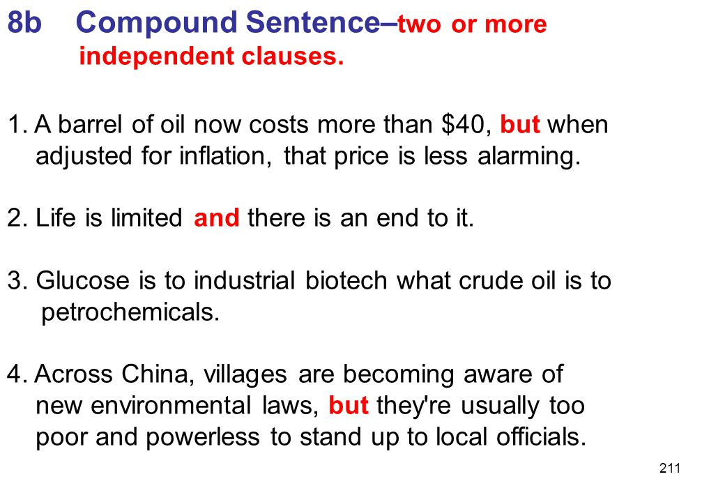 8b Compound Sentence–two or more