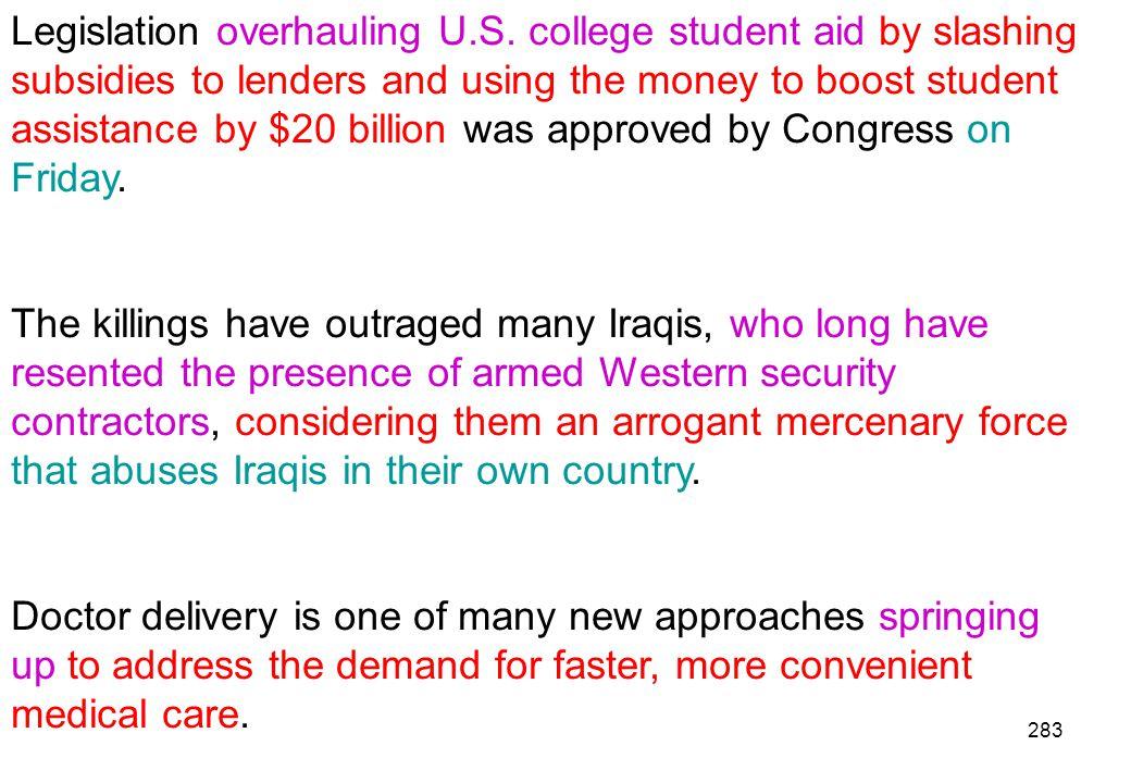 Legislation overhauling U. S