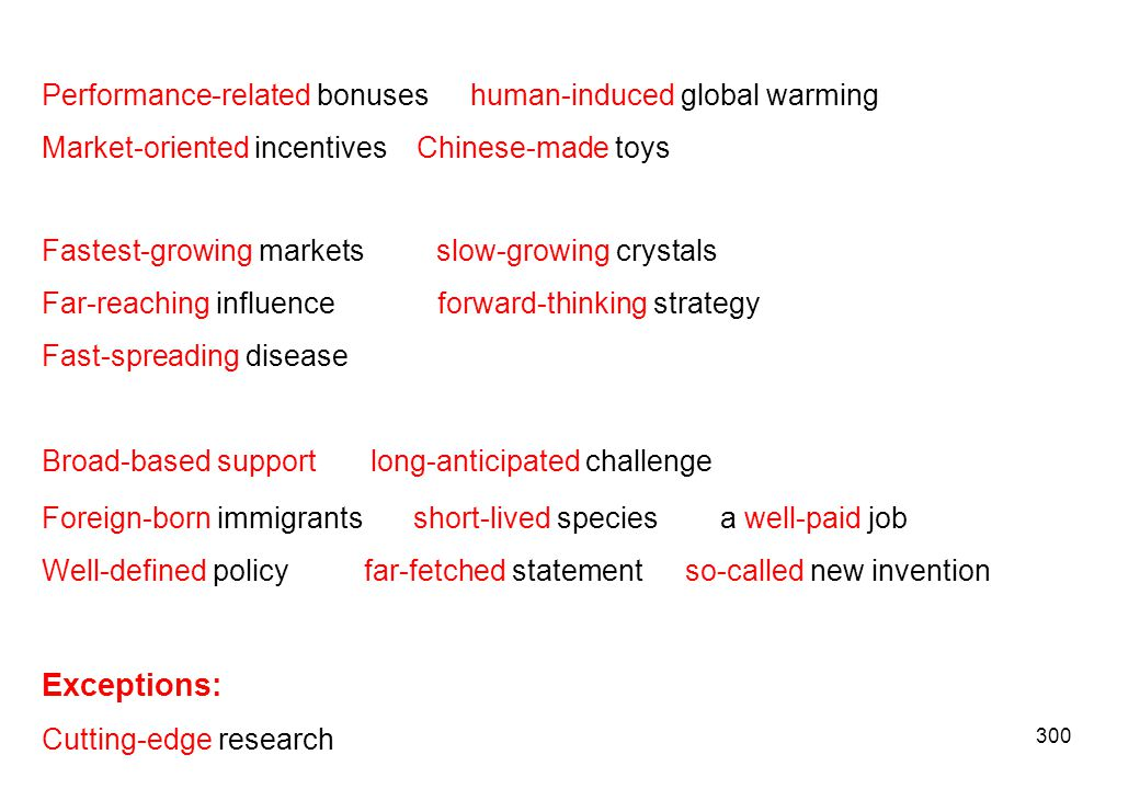 Exceptions: Performance-related bonuses human-induced global warming