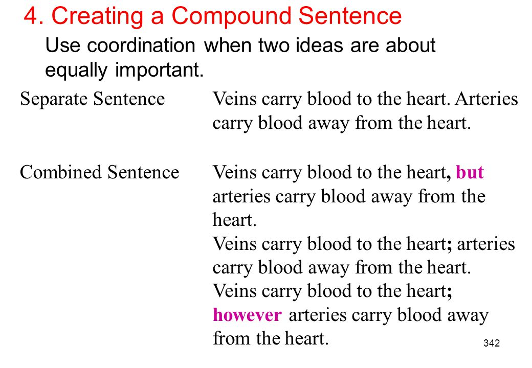 4. Creating a Compound Sentence