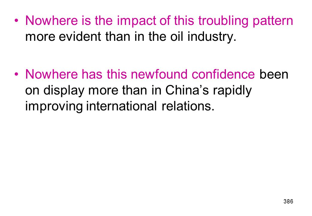 Nowhere is the impact of this troubling pattern more evident than in the oil industry.