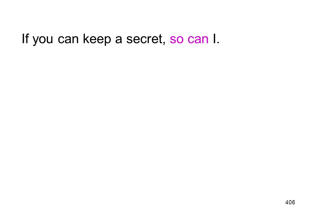 If you can keep a secret, so can I.